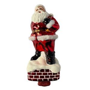 Piek Santa op Schoorsteen