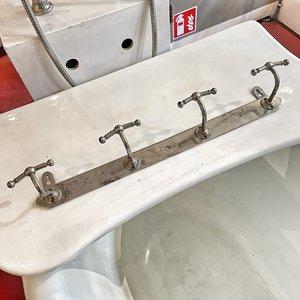 Handdoekhouder kapstokje nikkel
