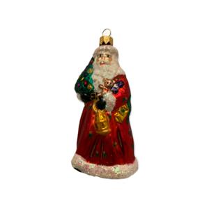 Kerstbal Santa met Kerstboom