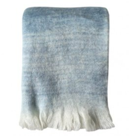 Malagoon Tye dye blue mohair throw