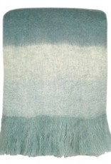 Malagoon Malagoon -  Surf Blue mohair throw