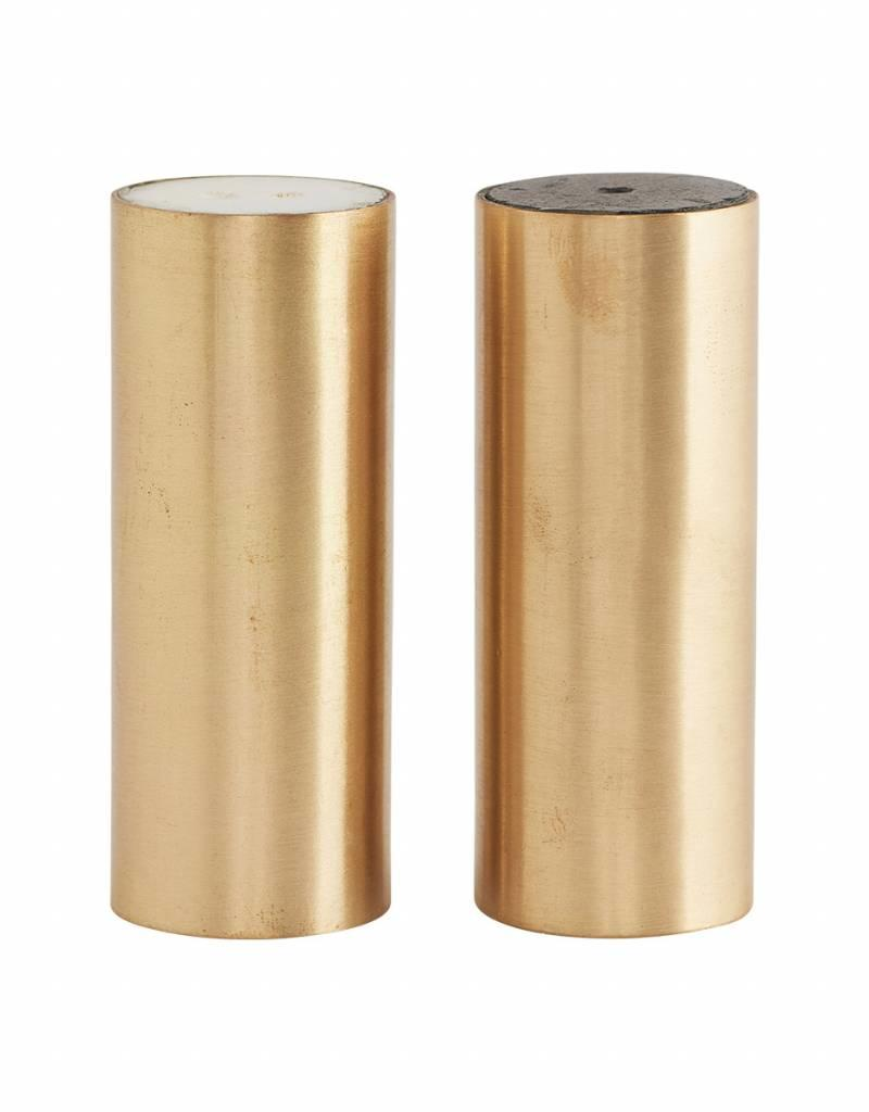 House Doctor House doctor - Salt and pepper, brass marble set of 2 pcs.