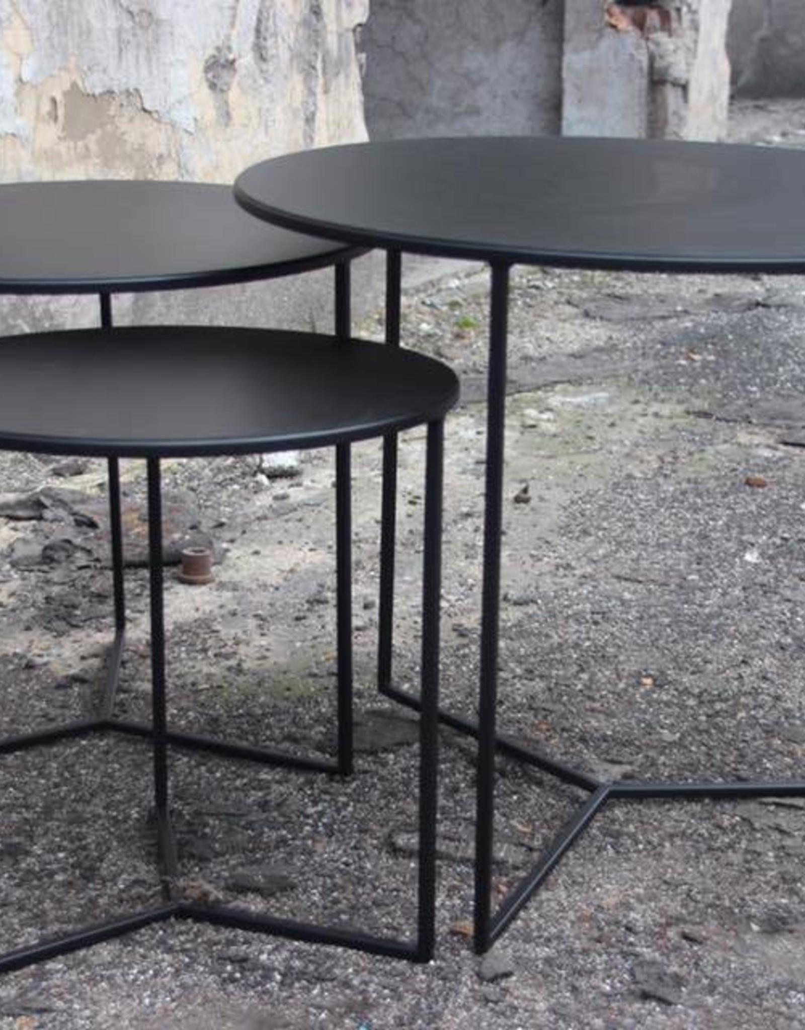 Sofa Dome - salon of bijzettafel rond zwart
