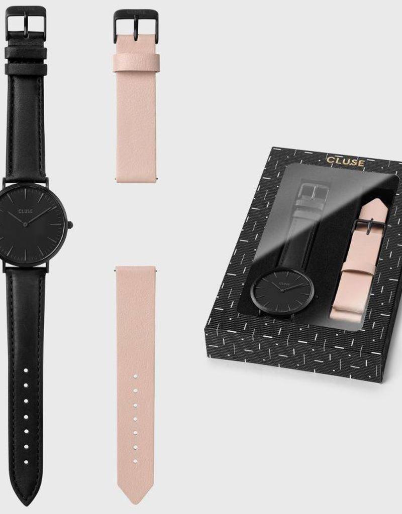 Cluse Cluse - La Bohème Box Full Black/Nude strap