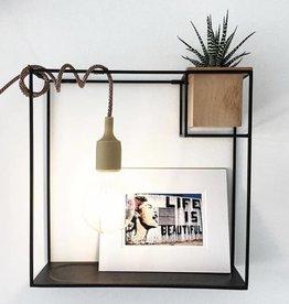 Umbra Cubist shelf large sand/blk
