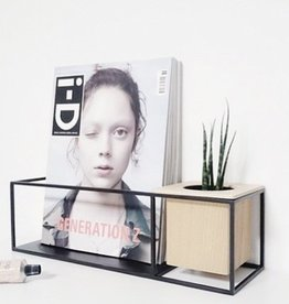 Umbra Cubist shelf small sand/blk