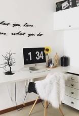 Umbra Umbra- Mantra wall decor black - Do what you love