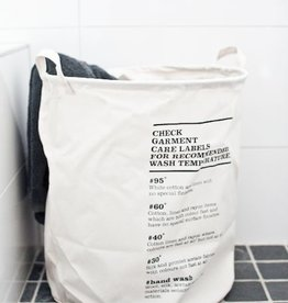 House Doctor Laundry bag, wash instructions