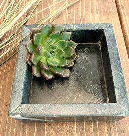 Madam Stoltz Marmer - groen vierkant x-small