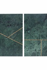 House Doctor House Doctor- Plate marble green 20x30