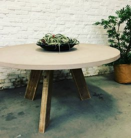 Thinkstyle Tafel model Mila - Mortex tablet & houten poten