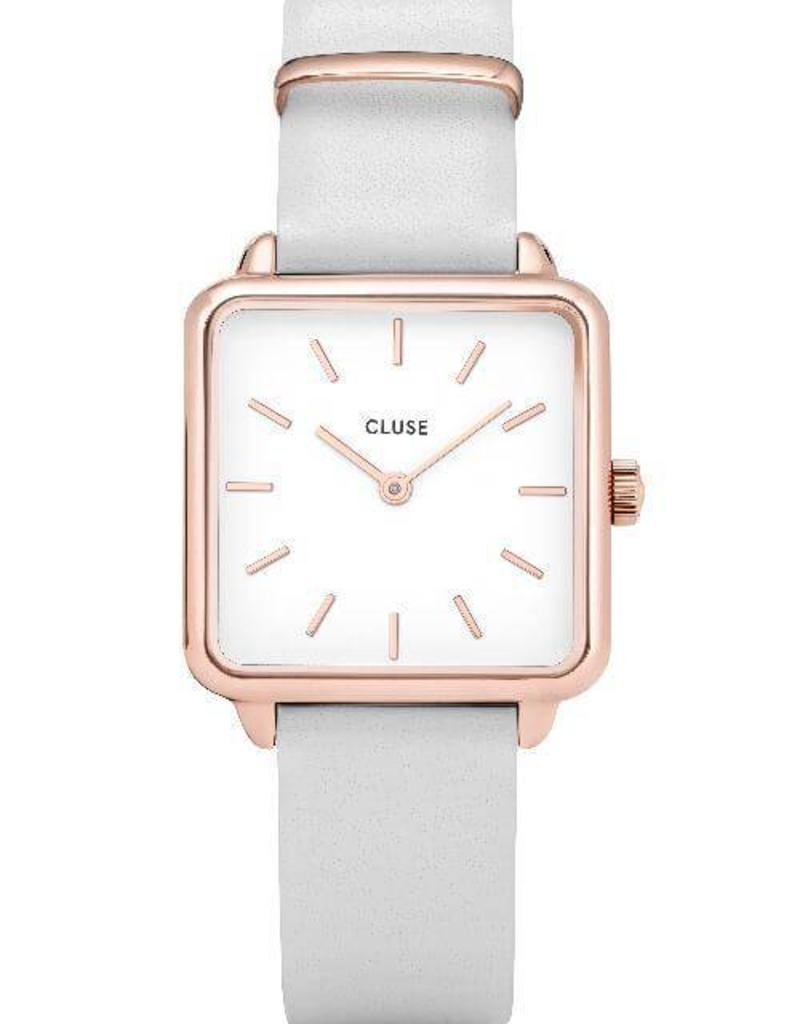 Cluse Cluse -  La Tétragone - Rose Gold White/White