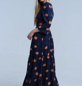 Q2 Fashion - Navy floral dress