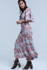 Q2 Fashion - Dress - white with tie neck detail - M