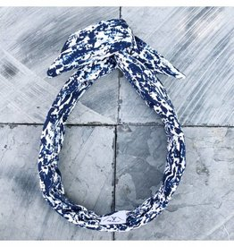 Fringe by A Fringe by A - Aida - blauw wit gevlekt