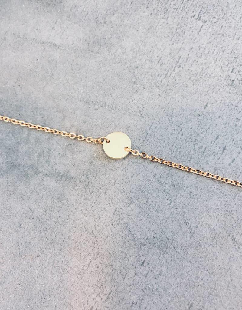 Birambi Birambi - Bracelet - circle - goud
