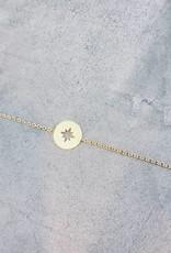 Birambi Birambi - Bracelet - compass - goud