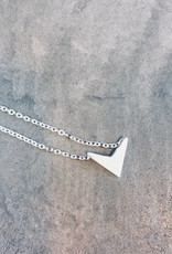 Birambi Birambi - V necklace - zilver