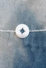 Birambi Birambi - Bracelet - compass - zilver