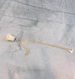 Birambi Birambi - V necklace - goud