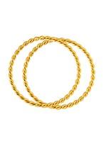 Juulry Juulry - ring - set van 2 - goldplated silver - small