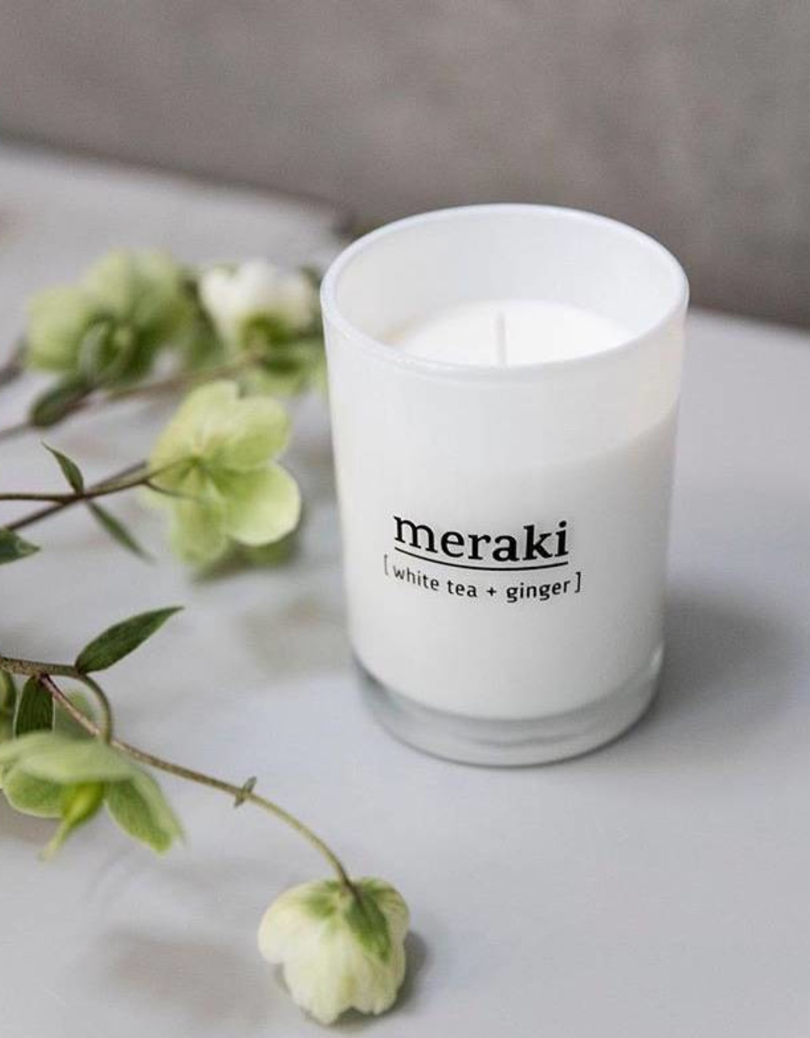 Meraki Meraki - scented candle white tea & ginger