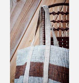 Madam Stoltz Madam stoltz -  Jute bag white/grey/hazelnut