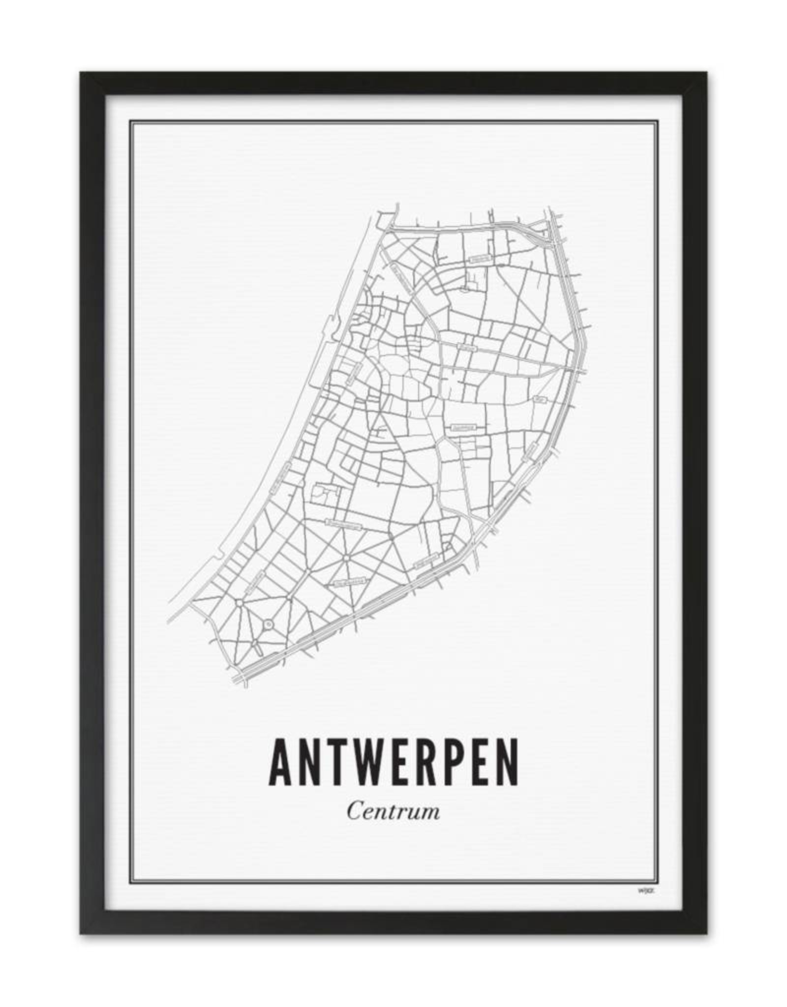 Wijck Wijck - prints - 50x70 - Antwerpen city