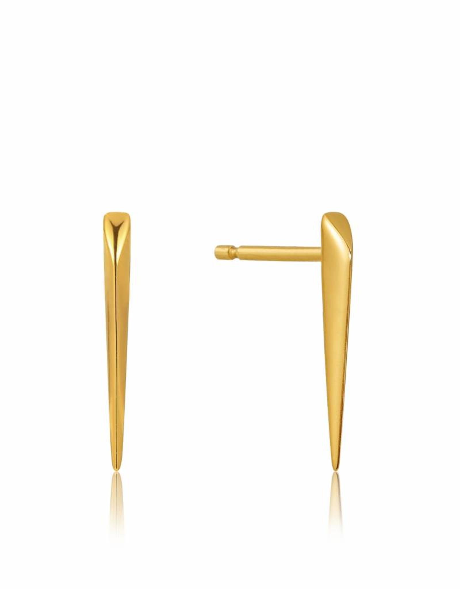 Ania Haie Ania Haie - Straight spike stud earrings Gold