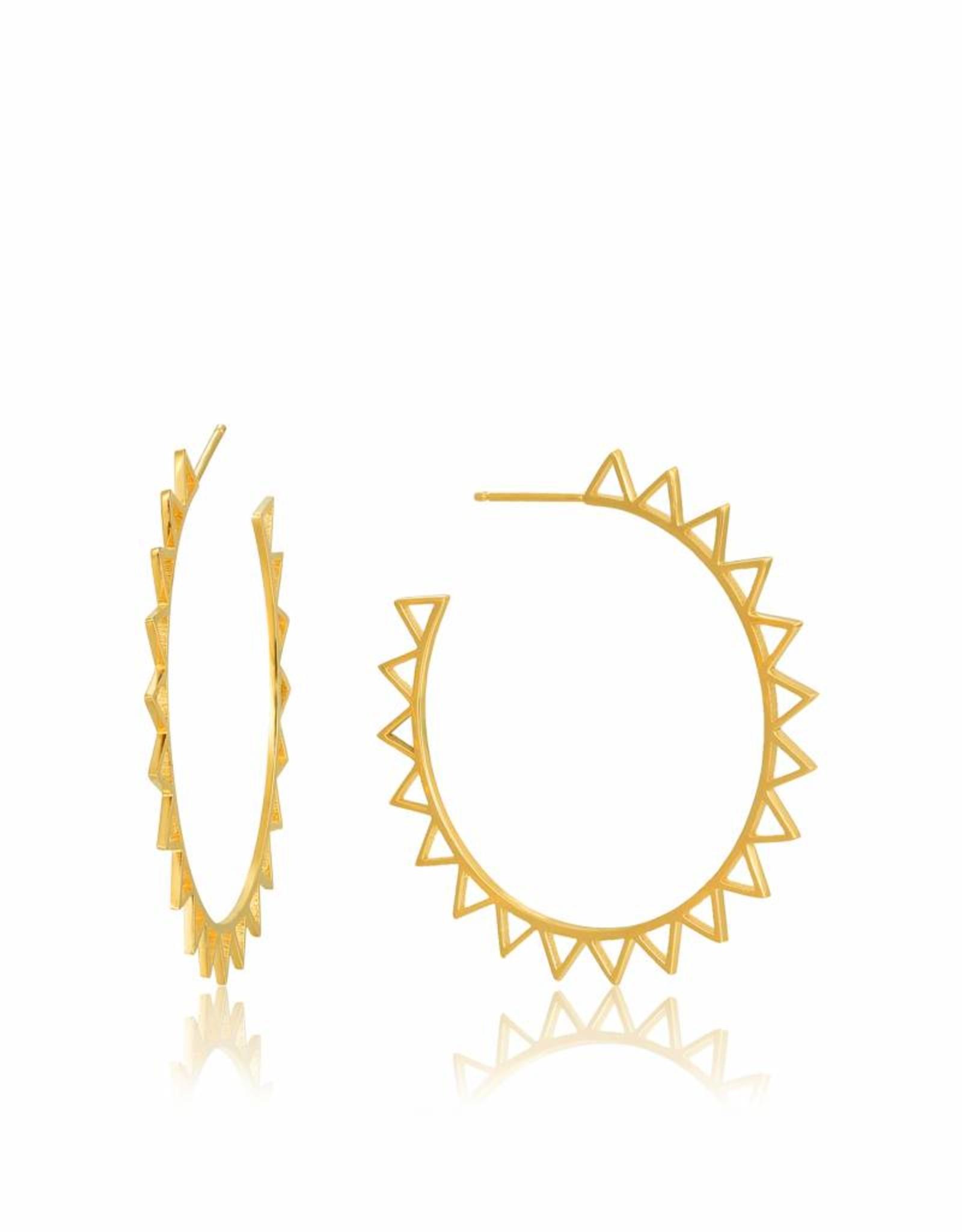 Ania Haie Ania Haie - Spike hoop earrings