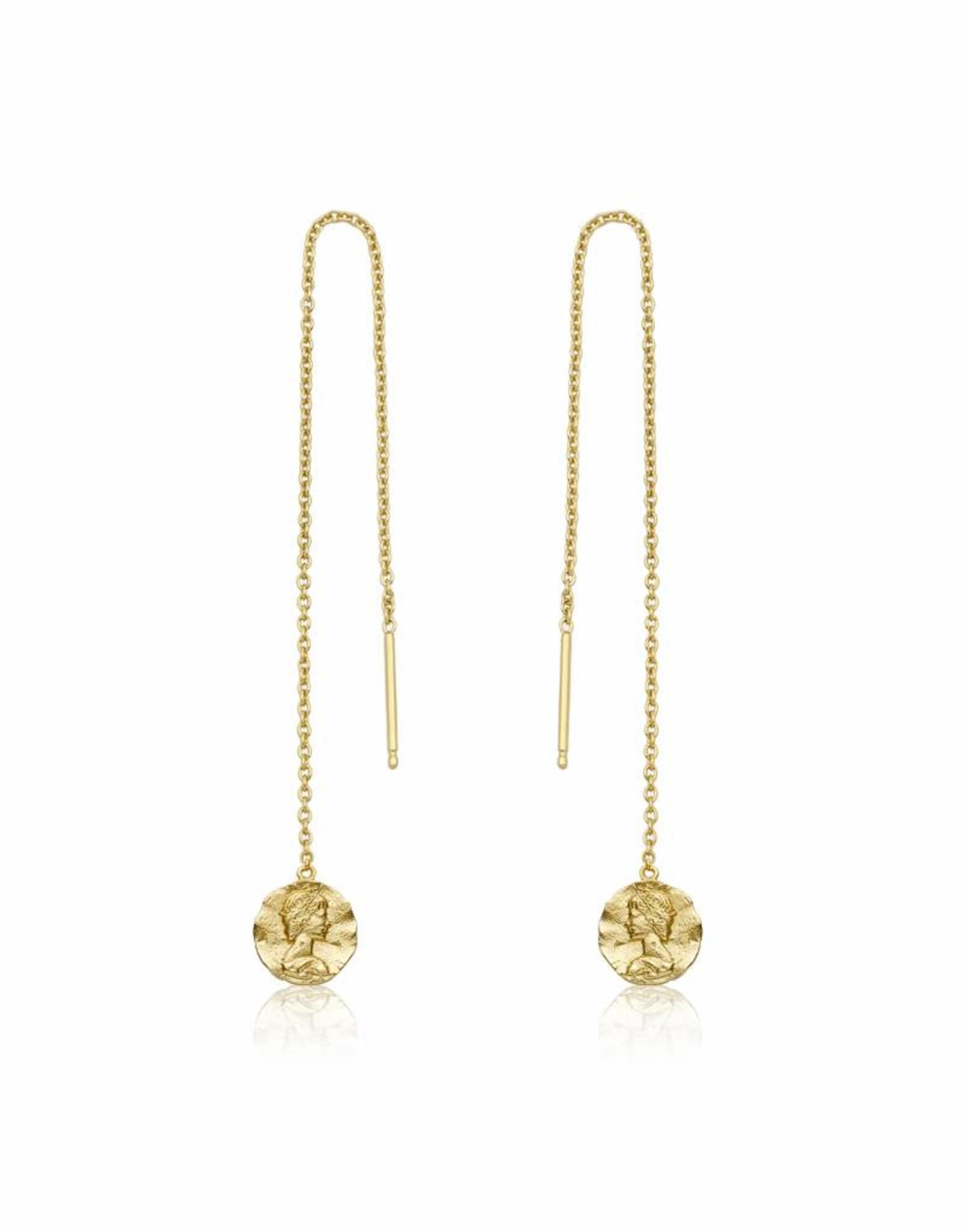 Ania Haie Ania Haie - Zeus chain drop earrings gold
