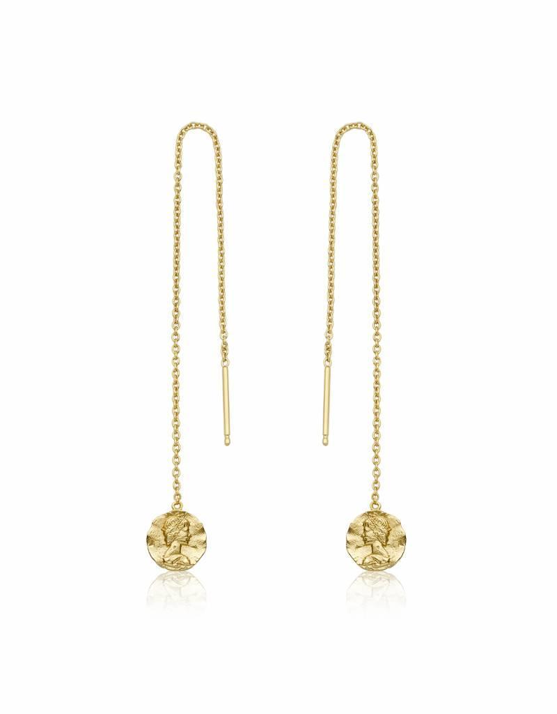 Ania Haie Ania Haie - Deus threader earrings Gold