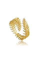 Ania Haie Ania Haie - Palm leaf adjustable ring
