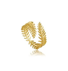 Ania Haie Ania Haie - Palm leaf adjustable ring