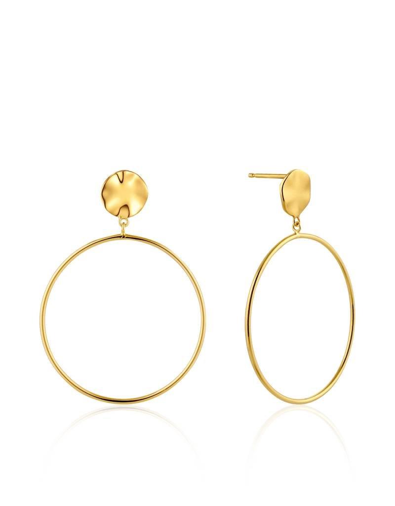 Ania Haie Ania Haie - Ripple front hoop earrings