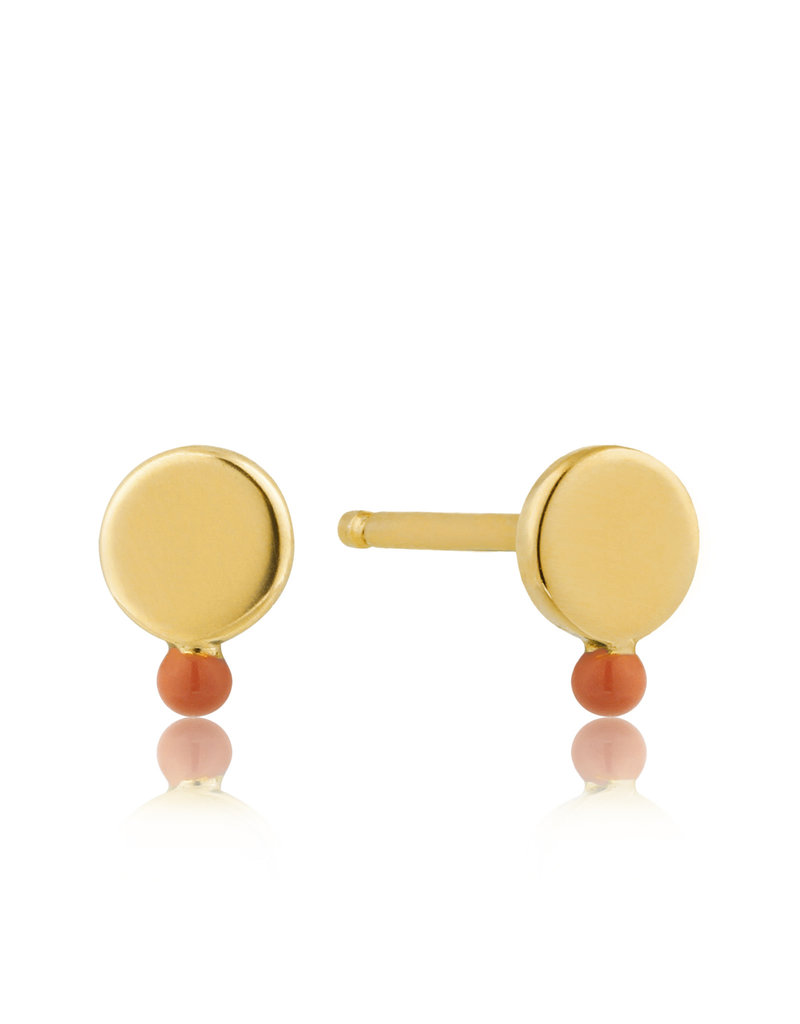 Ania Haie Ania Haie - Dotted coral disc stud earrings