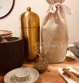 Madam Stoltz Madam Stoltz - Hourglass - clearglass w/light brown sand - 5 min
