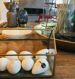 Madam Stoltz Madam Stoltz - Marble egg - white