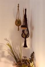 Madam Stoltz Madam Stoltz - Hanging pot - black/brown