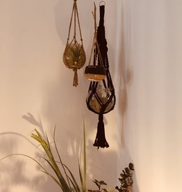 Madam Stoltz Madam Stoltz - Hanging pot - black/brown