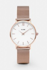 Cluse Cluse- Minuit Mesh Rose Gold/White