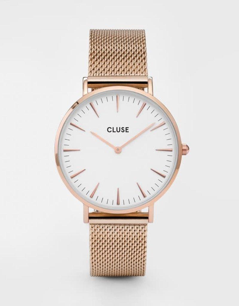 Cluse Cluse- La Bohème Mesh Rose Gold/White