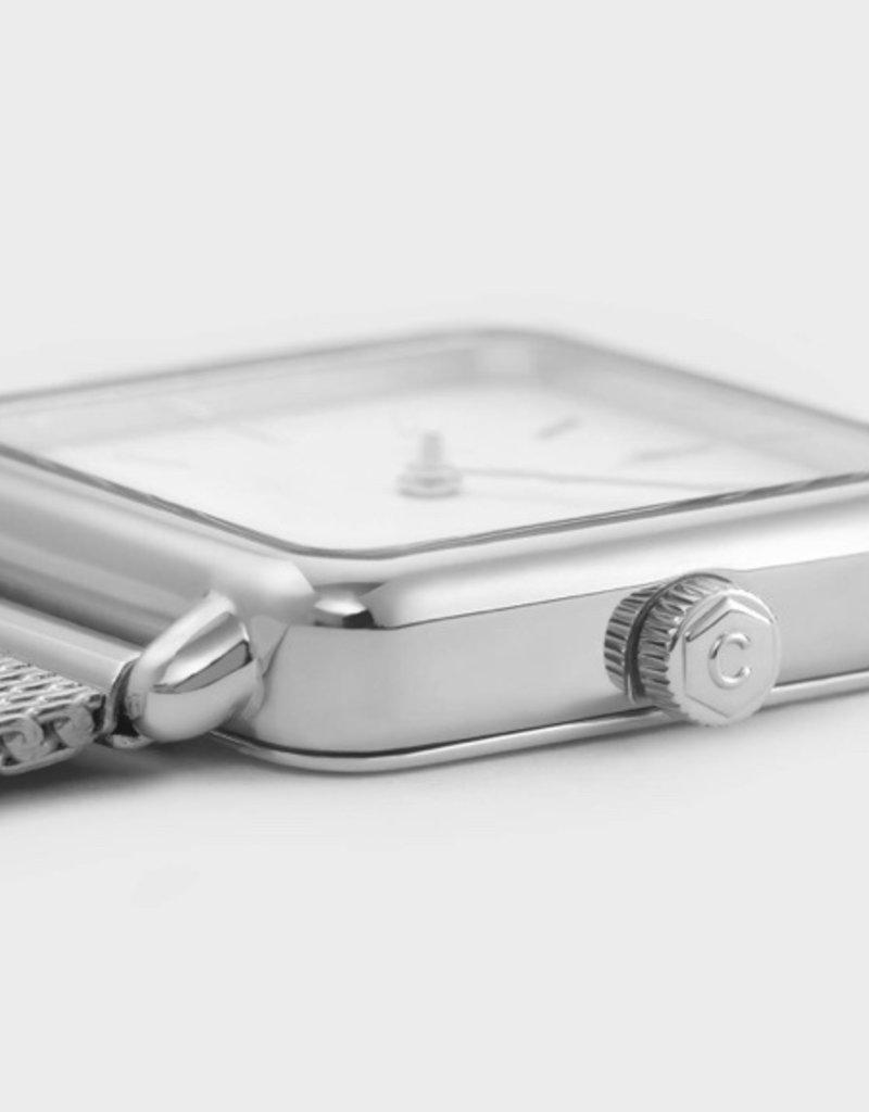 Cluse Cluse - La Tétragone  - Mesh Silver/White
