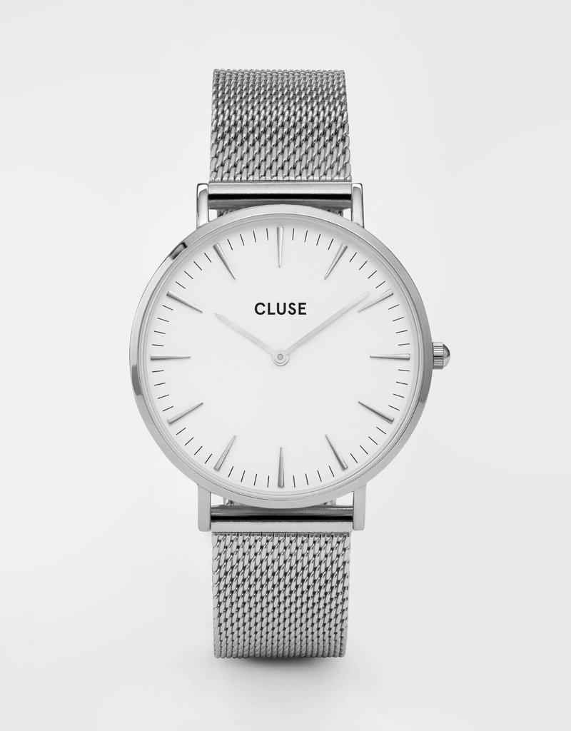 Cluse Cluse - La Bohème Mesh Silver/White