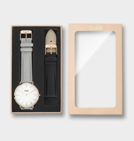 Cluse Cluse - La Bohème Box Rose Gold/grey with black strap