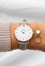 Cluse Cluse - Minuit leather Rose Gold white/Grey
