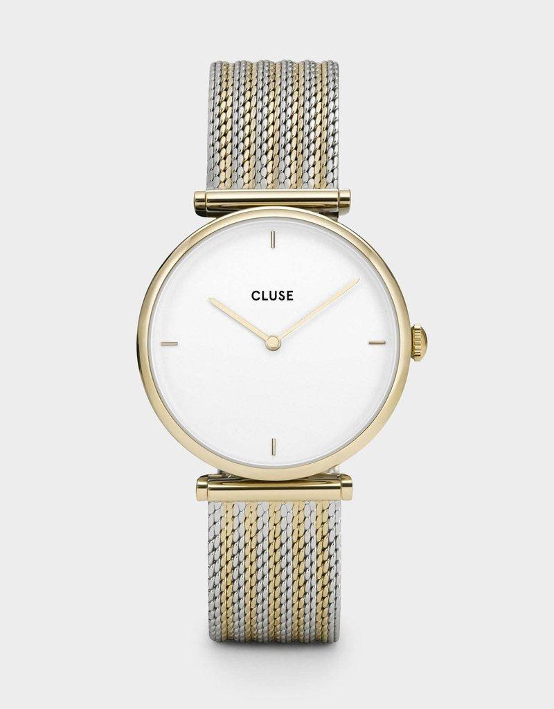 Cluse Cluse - Triomphe Gold Bicolour Mesh