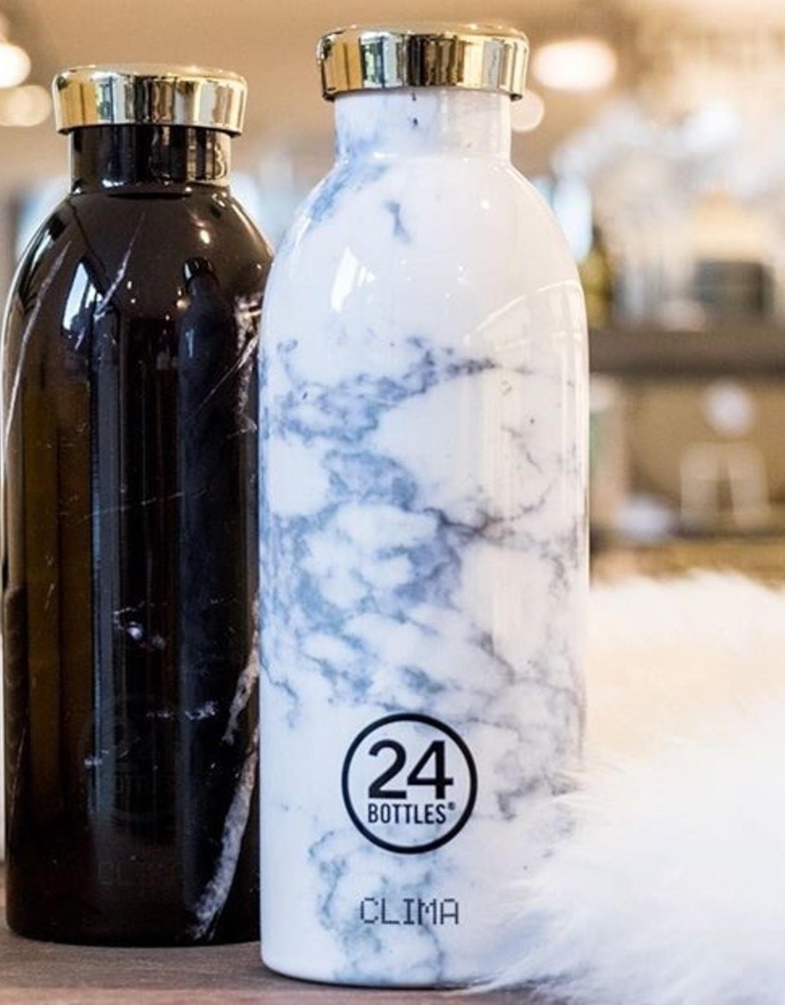 24 Bottles 24 Bottles - Clima Bottle  Marble white 500ml