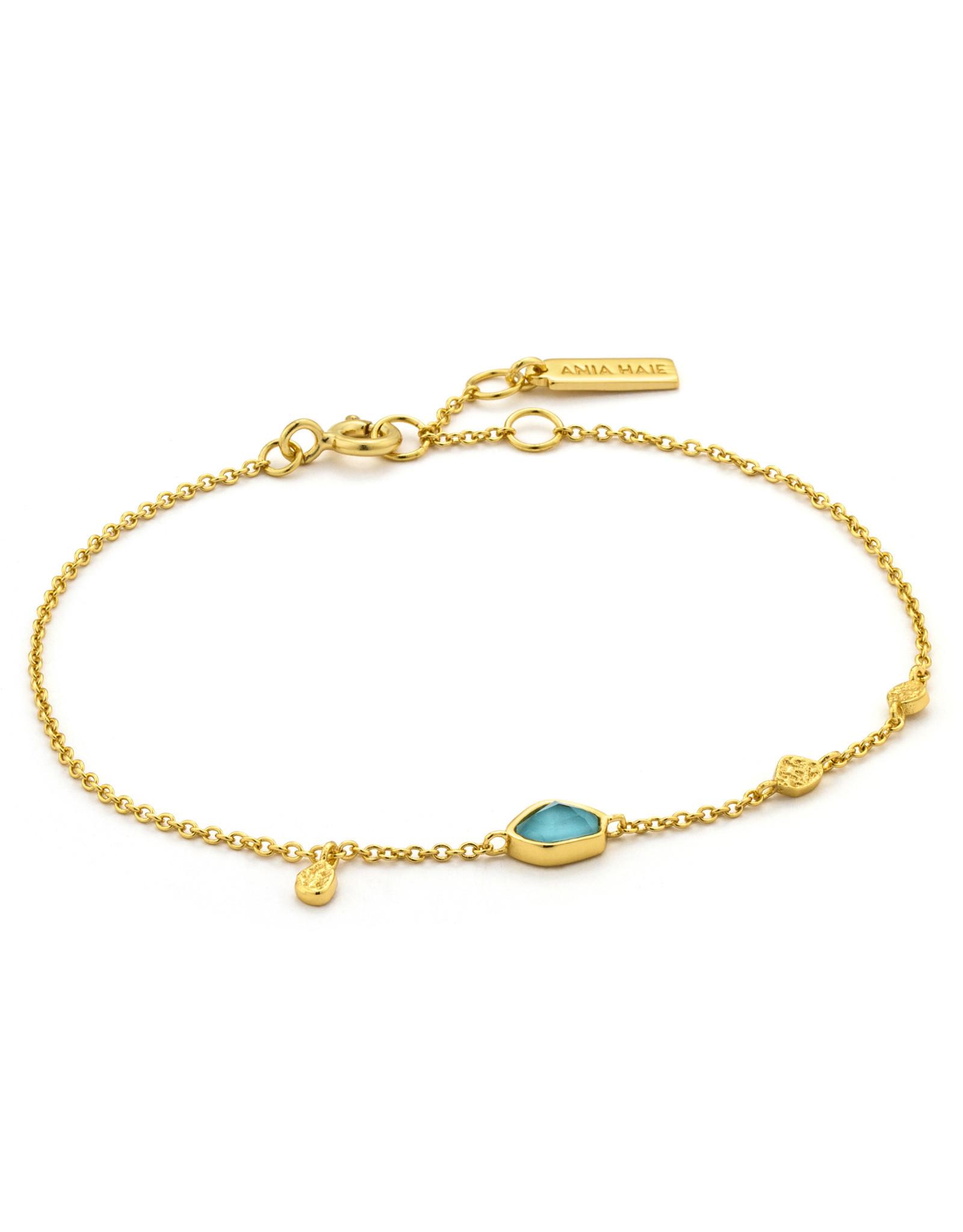 Ania Haie Ania Haie - Turquoise pendant bracelet gold