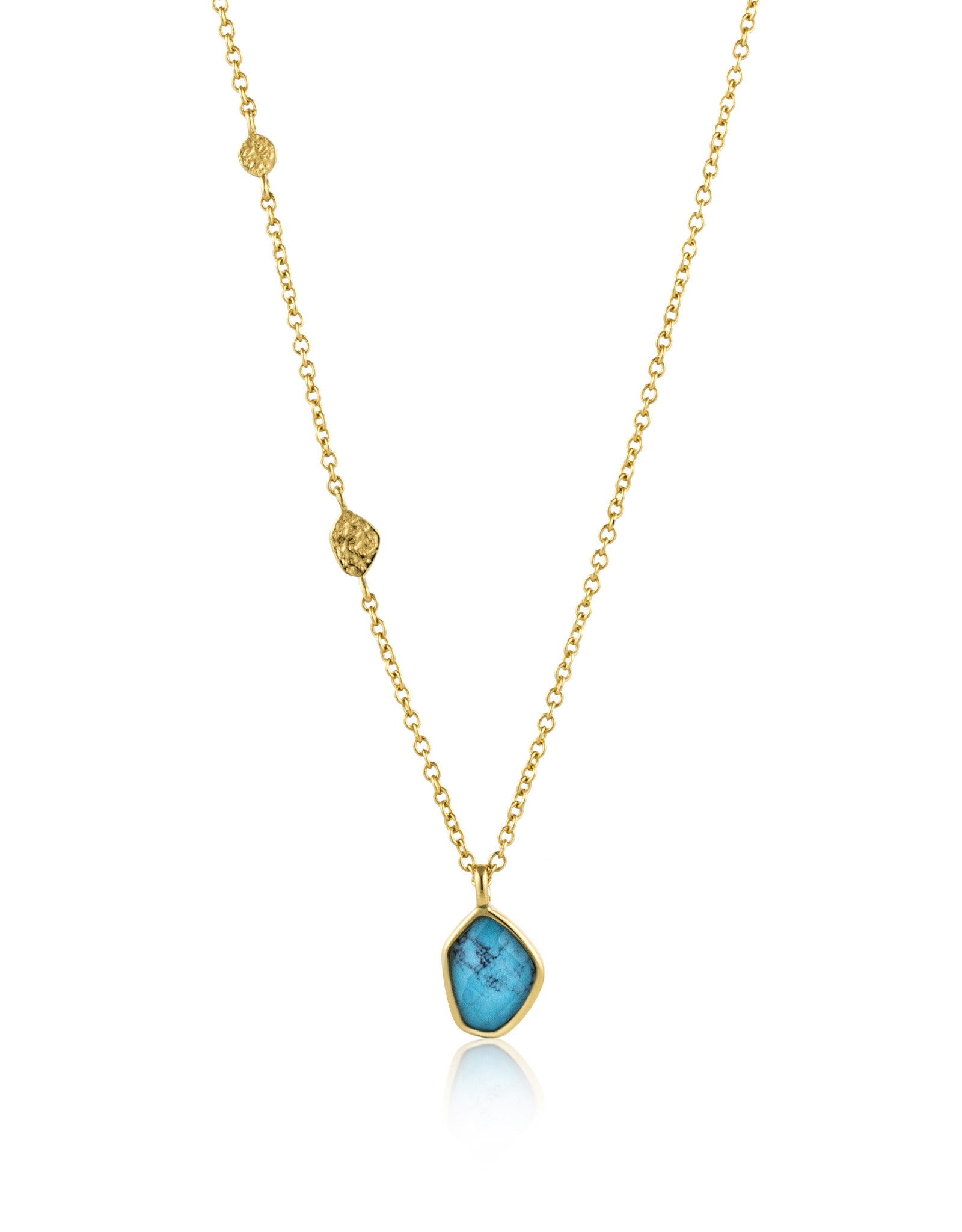 Ania Haie Ania Haie - Turquoise pendant necklace gold